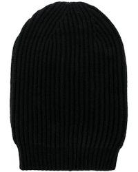Rick Owens - Ribbed Knit Beanie - Lyst