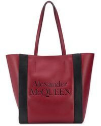 Alexander McQueen - Сумка-тоут С Тисненым Логотипом Signature - Lyst