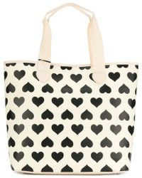 Twin Set - Printed Hearts Tote Bag - Lyst