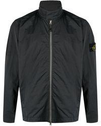 Stone Island - Куртка На Молнии С Нашивкой-логотипом - Lyst