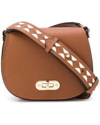 Serapian Luna Mini Shoulder Bag - Brown