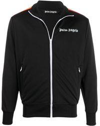Palm Angels Trainingsjacke mit Logo-Print - Schwarz