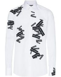 Dolce & Gabbana Camisa con logo - Blanco