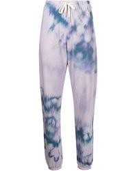 John Elliott Pantalon de jogging à imprimé tie dye - Violet