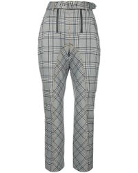 Self-Portrait - Plaid Tailored Trousers - Lyst