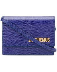 Jacquemus Mini 'Bello' Umhängetasche - Blau