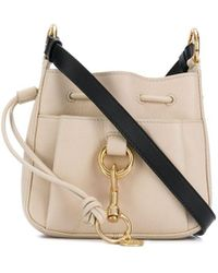 See By Chloé Leather Bucket Bag - Natural