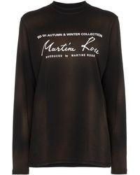Martine Rose ロゴ ロングtシャツ - ブラック