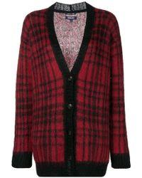 Woolrich - Check Pattern Cardigan - Lyst