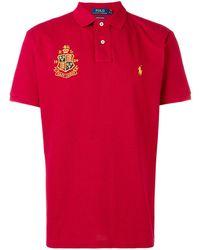 Polo Ralph Lauren - Poloshirt mit aufgesticktem Logo - Lyst