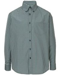 Martine Rose - Checked Fitted Shirt - Lyst