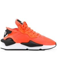 Y-3 Panelled Trainers - Orange