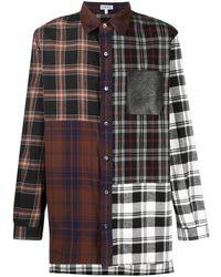 Loewe Рубашка Со Вставками - Коричневый