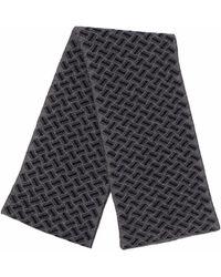 Drumohr Razor Blade Knitted Scarf - Grey