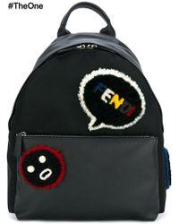 f003167abf48 Lyst - Fendi Grey   Black   Faces   listen  Backpack in Gray for Men