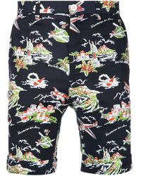 Loveless Island Printed Shorts - Black