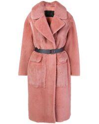 Blancha - Oversized Coat - Lyst