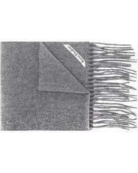 Acne Studios 'Canada' Schal mit Fransen - Grau