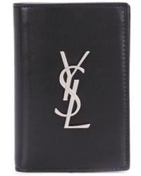 Saint Laurent Бумажник С Логотипом - Черный