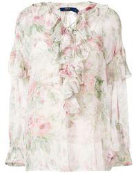 Polo Ralph Lauren - Floral Print Blouse - Lyst