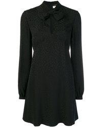 ef27d32f41 Saint Laurent Lavallière Silk Dress With