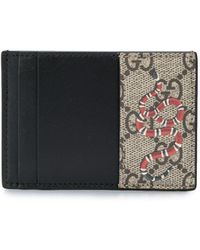 Gucci - キングスネーク プリント GGスプリーム カードケース - Lyst