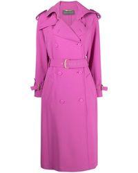 Alberta Ferretti Belted Trench Coat - Pink