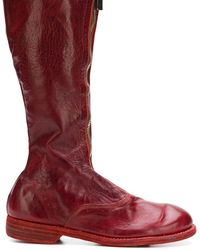 Guidi Stiefel im Used-Look - Rot