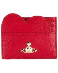 Vivienne Westwood Heart Logo Cardholder - Red