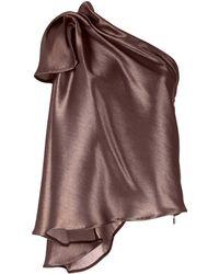 Maticevski Metallized One-shoulder Top - Metallic