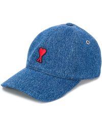 AMI Baseball Cap With Ami De Coeur - Blue