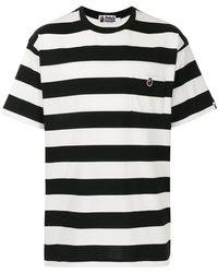 A Bathing Ape T-shirt a righe - Bianco