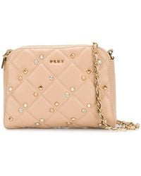 DKNY - Embellished Quilted Crossbody Bag - Lyst