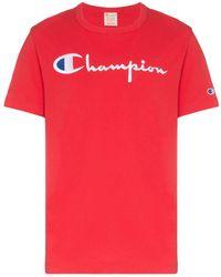 Champion ロゴ Tシャツ - レッド