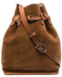 Polo Ralph Lauren Suede Bucket Bag - Brown