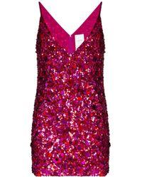 Ashish Sequin Mini Dress - Pink