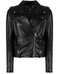 Arma ライダースジャケット - ブラック