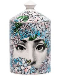 Fornasetti Ortensia Wax Candle (300g) - Pink