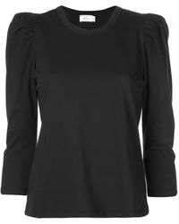 A.L.C. Karlie パフスリーブ Tシャツ - ブラック