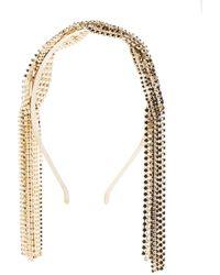 Rosantica Chevron Crystal-embellished Twisted Headband - Metallic