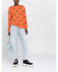 Moschino Джемпер Teddy Bear С Круглым Вырезом - Оранжевый