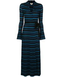 L'Agence ジグザグプリント ドレス - ブラック