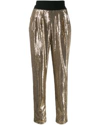 P.A.R.O.S.H. High-waist Trousers - Metallic