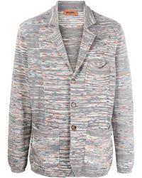 Missoni Abstract-stripe Jacket - Grey