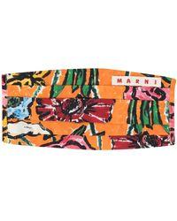 Marni Masque à fleurs - Orange