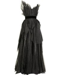 Ralph & Russo Pleated-tulle Silk Ball Gown - Black