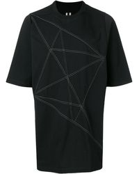 Rick Owens ジオメトリック Tシャツ - ブラック