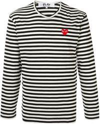 COMME DES GARÇONS PLAY T-shirt à logo brodé - Multicolore