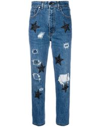 History Repeats - Glitter Star Cropped Jeans - Lyst