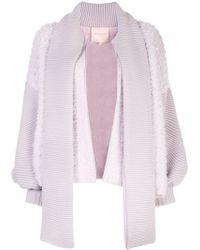 ROKSANDA Zipped-up Knit Cardigan - Purple